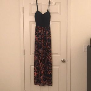 Navy and Pink Maxi Dress